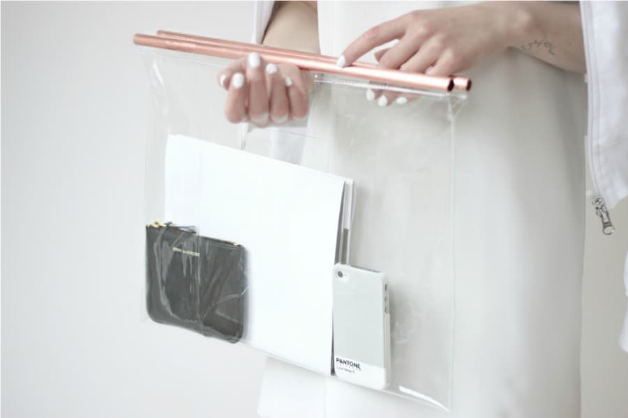 TRY THESE DIY CLEAR BAG WITH COPPER HANDLES PROJECT