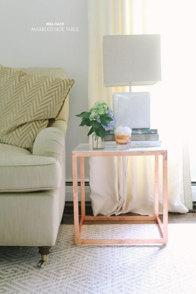 THIS DIY IKEA HACK COPPER & MARBLE SIDE TABLE IS WORTH TRYING