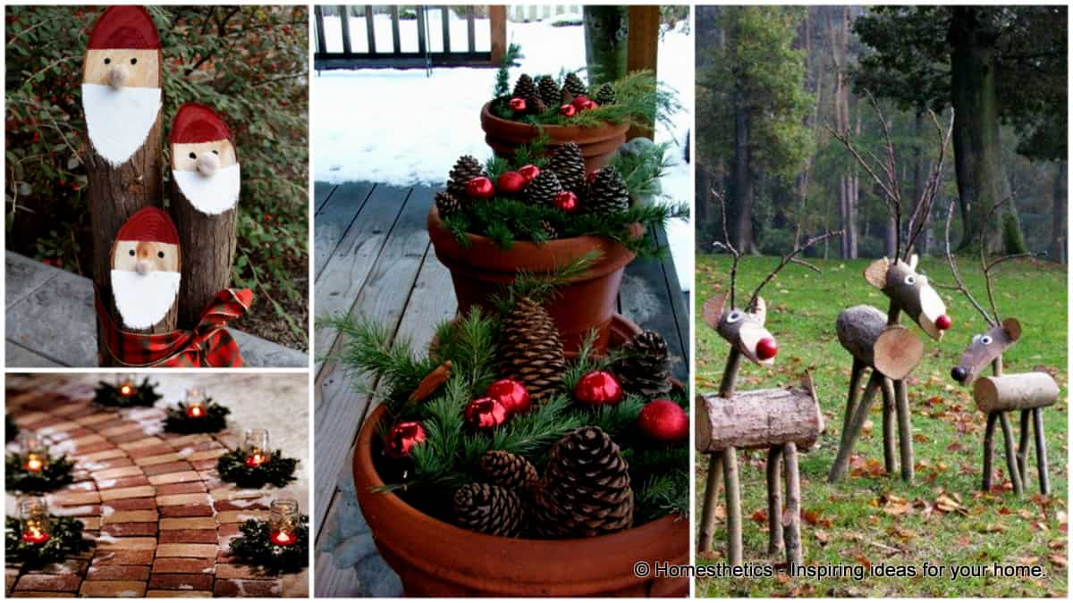Get Inspired With 10 Cheerful Christmas Outdoor ... on Backyard Garden Decor id=53647