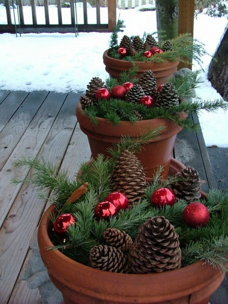 10 ideas of beautifying your outdoor for Christmas homesthetics decor (8)