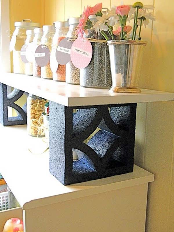 16 Creative Do It Yourself Cinder Block Projects For Your Home homesthetics (4)