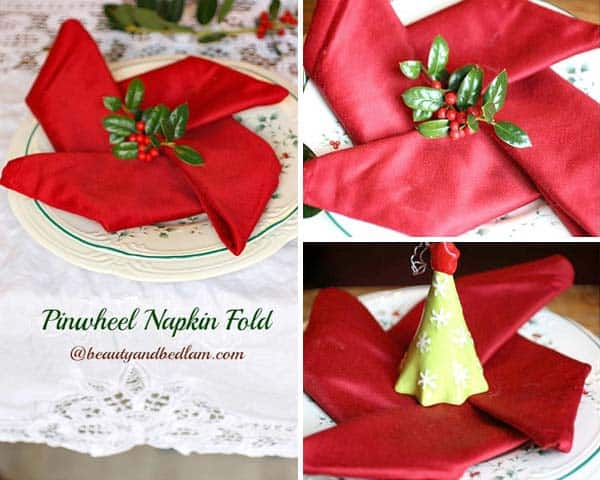 17 Super Delicate Napkin Ideas For Your Christmas Table Setting homesthetics decor (13)