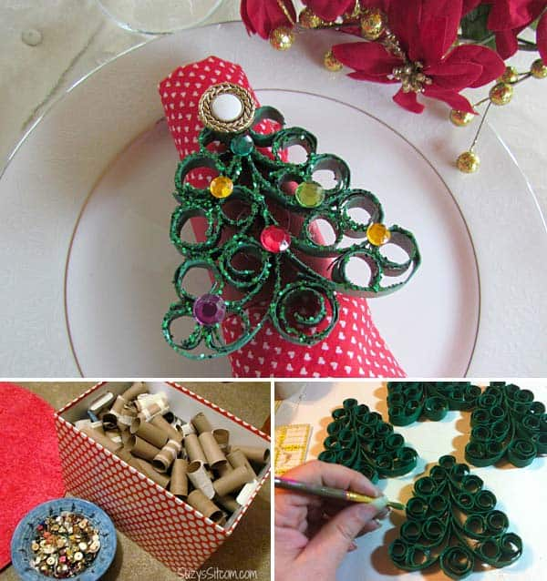 17 Super Delicate Napkin Ideas For Your Christmas Table Setting homesthetics decor (2)