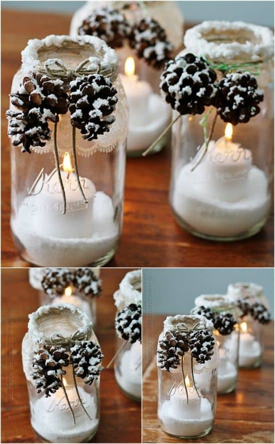 Mason Jar Craft Ideas For Christmas Part - 41: 18 Captivating DIY Christmas Mason Jars (11)