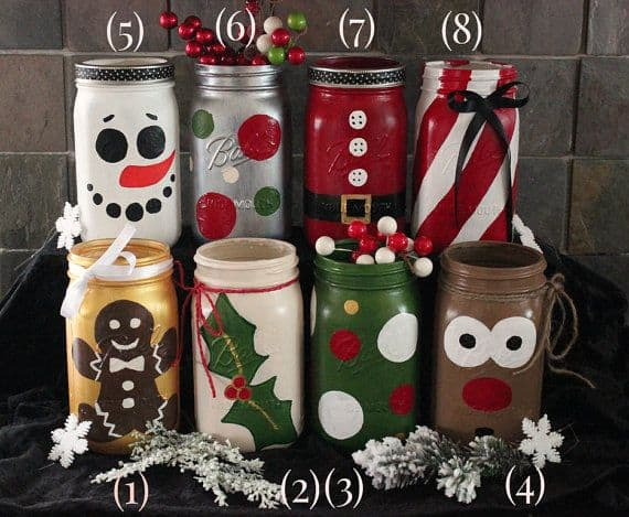 18 Captivating DIY Christmas Mason Jars (13)