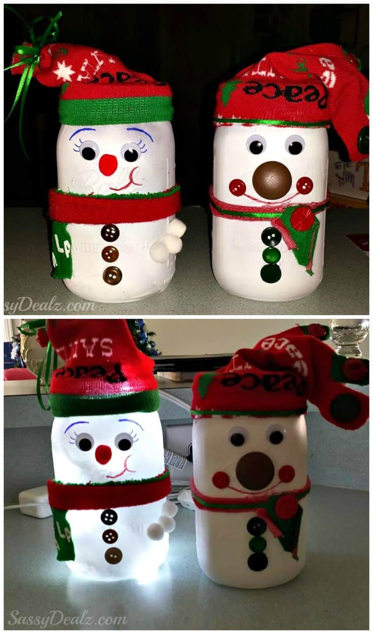 18 Captivating DIY Christmas Mason Jars (17)