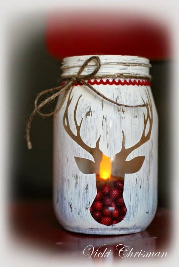 18 captivating diy christmas mason jars 9