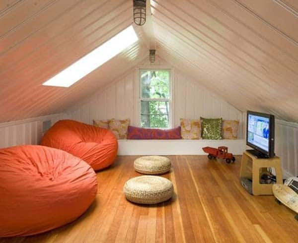 23 spectacular design ideas for unused attic space for Attic room