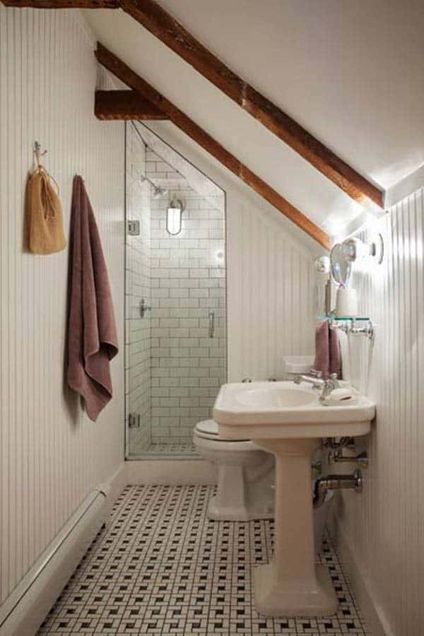 48 Spectacular Design Ideas For Unused Attic Space Homesthetics Simple Attic Bathroom Designs Plans