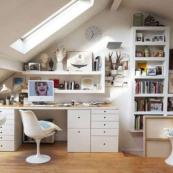 20 Trendy Ideas For A Home Office With Skylights: 23 Spectacular Design Ideas For Unused Attic Space