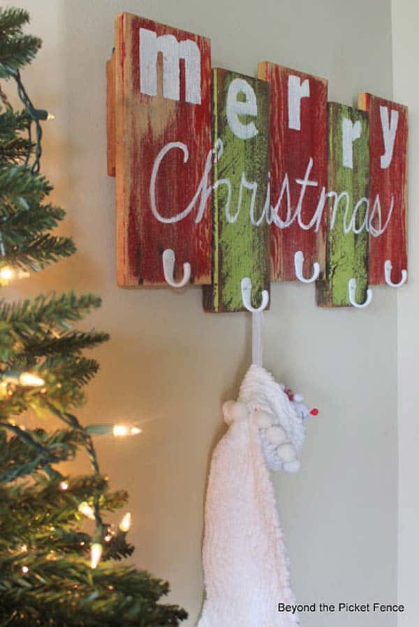 Wood Christmas Decorations.28 Beautiful Recycled Wood Christmas Decorations