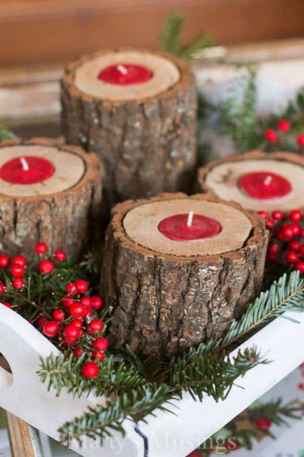28 Beautiful Recycled Wood Christmas Decorations homesthetics ideas (13)