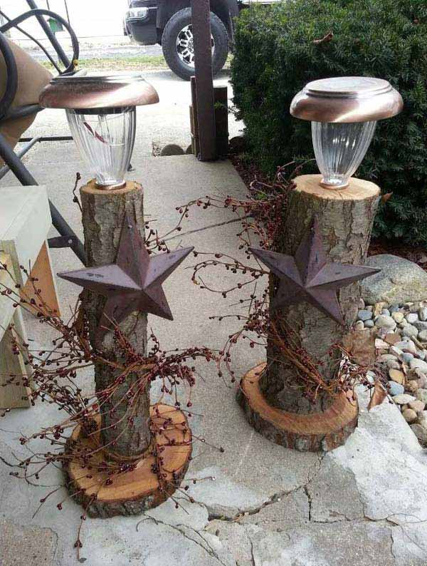 28 Beautiful Recycled Wood Christmas Decorations homesthetics ideas (3)