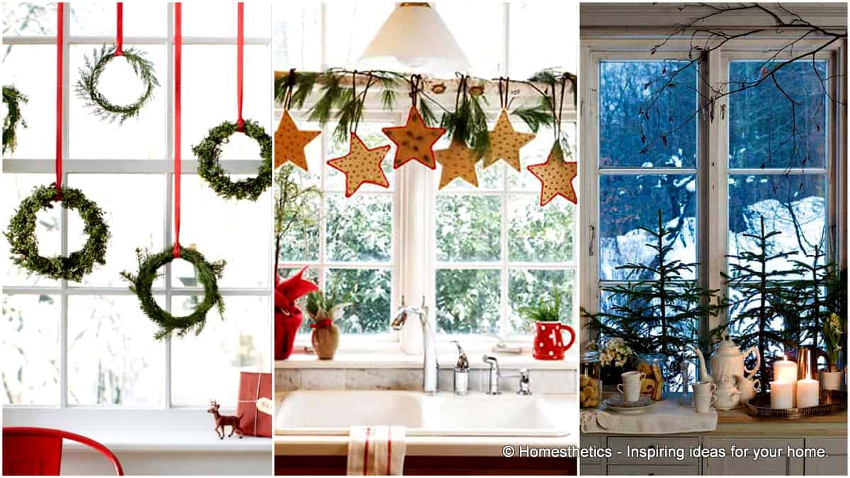 30 insanely beautiful last minute christmas windows decorating ideas - Christmas Window Decorations