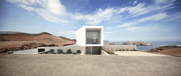 Concrete Home On A Cliff By Domenack Arquitectos in Peru Overlooking the Pacific homesthetics 1