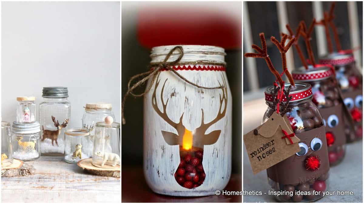 18 captivating diy christmas mason jars homesthetics inspiring ideas for your home - Christmas Jar Decorations