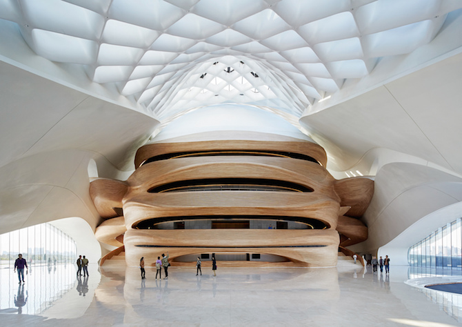 Fascinating Sculptural Sinuous Opera House Envisioned by MAD Architects homesthetics decor (3)