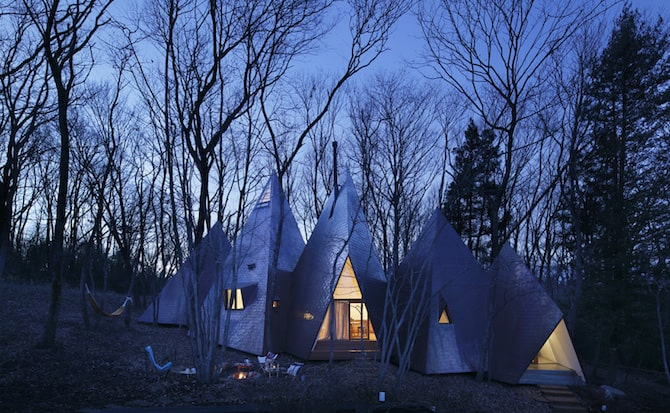 Forest Tipi-Shaped House Envisioned by NAP Architects homesthetics (11)