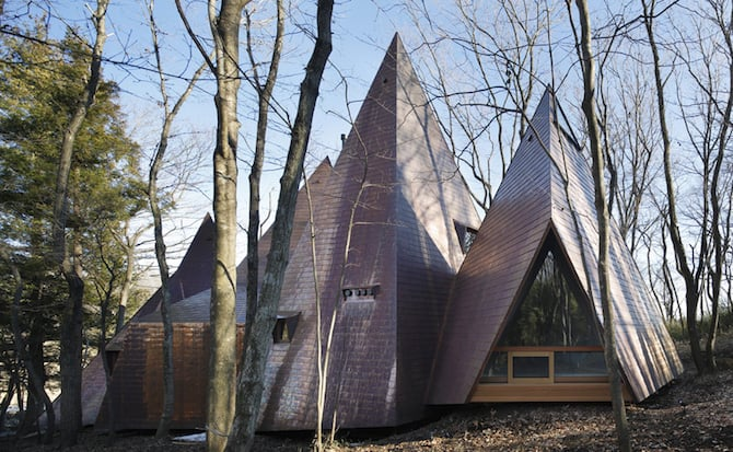Forest Tipi-Shaped House Envisioned by NAP Architects homesthetics (2)