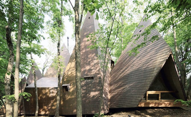Forest Tipi-Shaped House Envisioned by NAP Architects homesthetics (3)