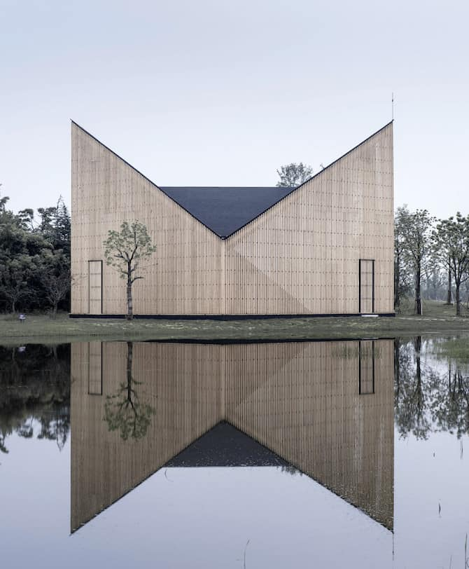 Impeccable Density Infused Garden Chapel Envisioned by AZL Architects homesthetics architecture 1