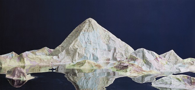 Maps Sculpted by Ji Zhou Into Three-Dimensional Landscapes homesthetics art (5)