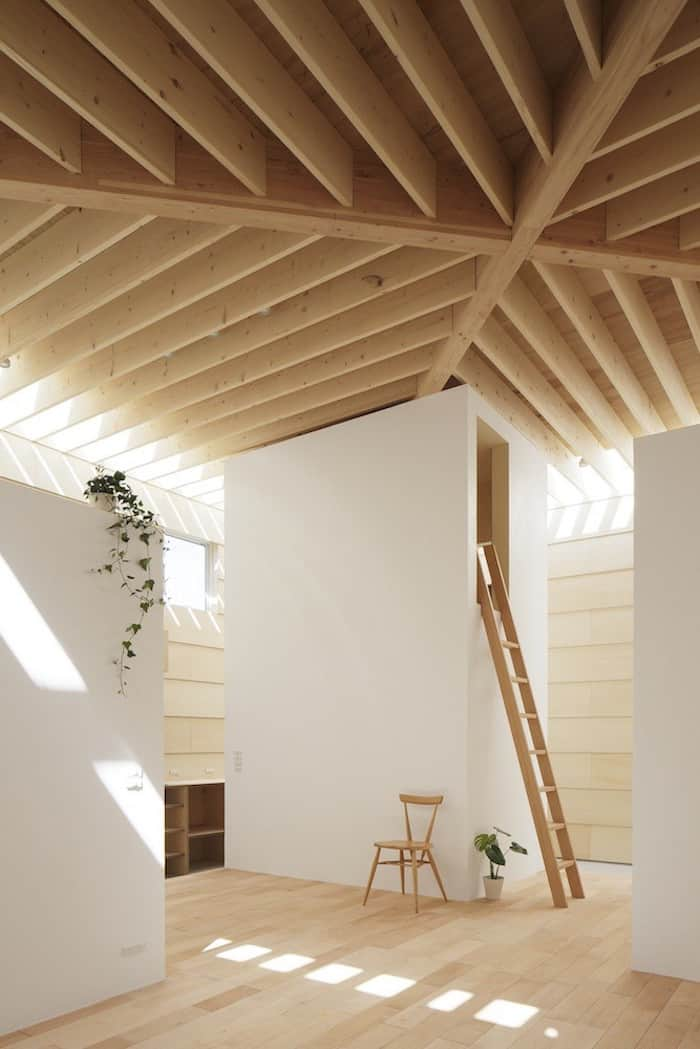 Minimalist Japanese Wooden Home Flooded by Sunlight Signed mA-Style Architects homesthetics (10)