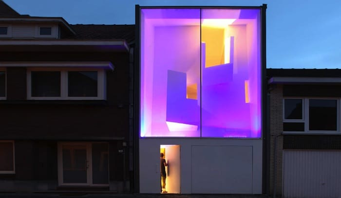 Modern Home With Live Colorful Facade Animating The Street homesthetics architecture 2