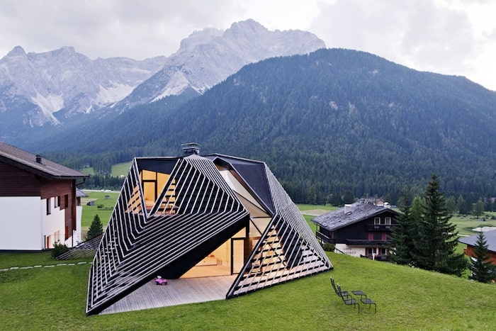 Sculptural Holiday House Nestled in Italys Mountains by Plasma Studio 3