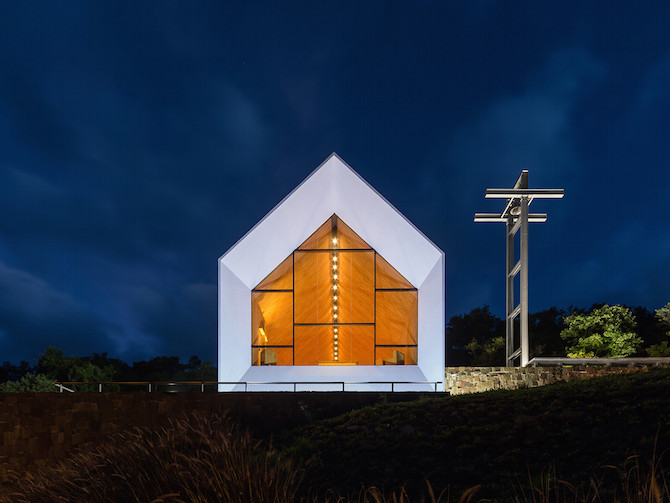 Sculptural Shape in Plane Sight - Chapel In The Forest by Estudio Cella homesthetics architecture (4)