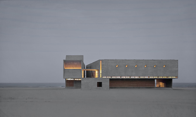 Simple Raw Beauty in a Seashore Library Designed by Vector Architects (11)