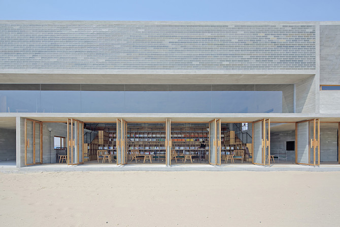 Simple Raw Beauty in a Seashore Library Designed by Vector Architects (4)