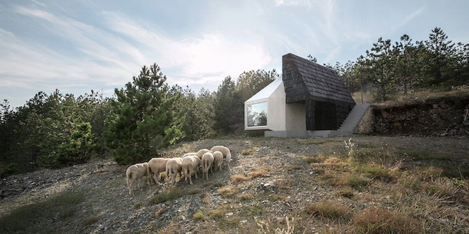 The Assymetrical Divcibare Mountain Home Nestled In Serbia By EXE Studio homesthetics architecture (9)