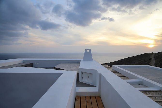 Twin Holiday Homes Forged Into Rock Overlooking The Aegean homesthetics architecture 1