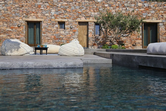Twin Holiday Homes Forged Into Rock Overlooking The Aegean homesthetics architecture (4)