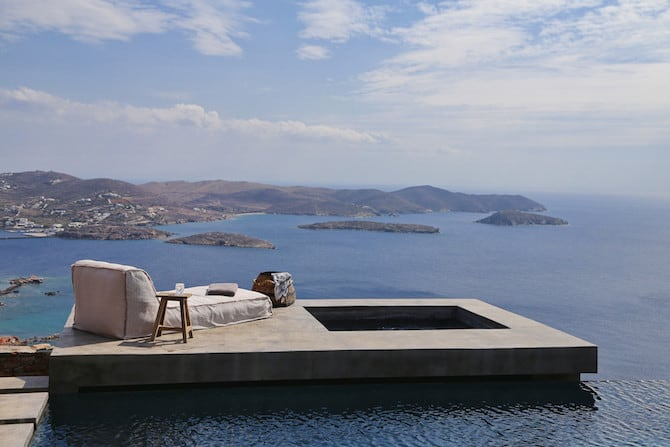 Twin Holiday Homes Forged Into Rock Overlooking The Aegean homesthetics architecture (9)