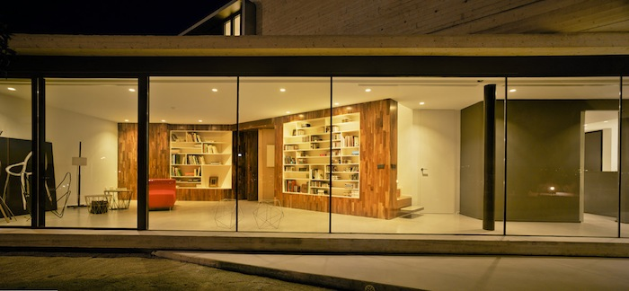 Two Cement Volumes Entitled The Crossed House By Clavel Arquitectos homesthetics architecture (5)