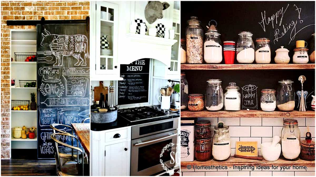 21 Simply Beautiful Ways To Use Chalkboard Paint On a Kitchen - Homesthetics - Inspiring ideas for your home.
