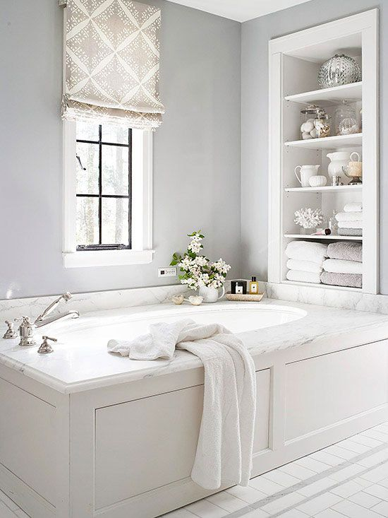 18 shabby chic bathroom ideas suitable for any home for All white bathrooms ideas
