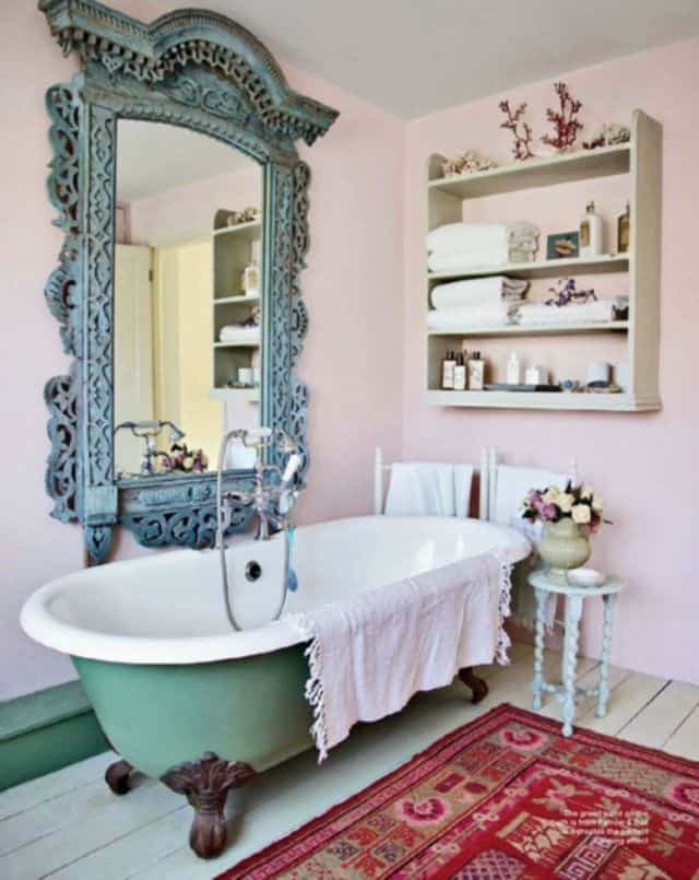 18 Shabby Chic Bathroom Ideas Suitable For Any Home (13)