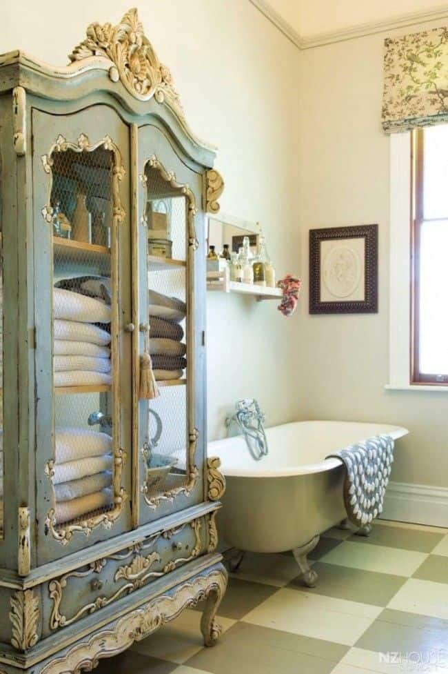 18 shabby chic bathroom ideas suitable for any home 8 - Bathroom Cabinets Shabby Chic