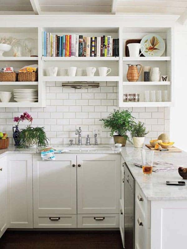 All white kitchen design choice emphasizing the feeling of space.