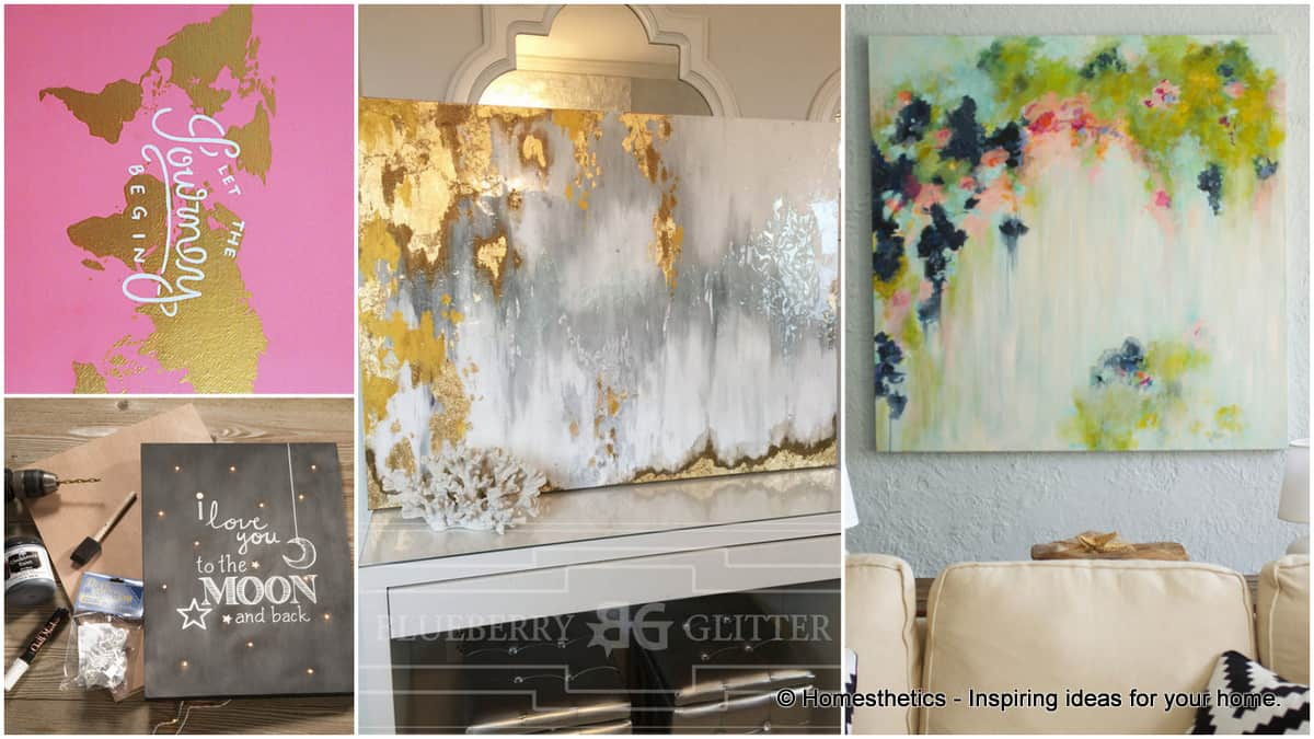 Add Color To Your Home With 15 Beautiful Canvas Painting Ideas