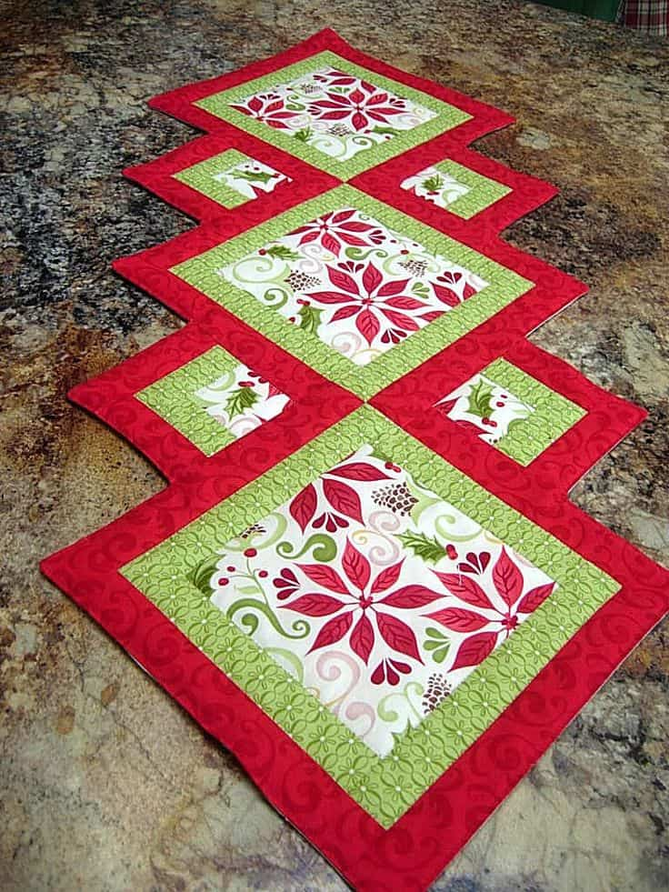 20 DIY Quilted Table Runner Ideas For All Year Round (11)