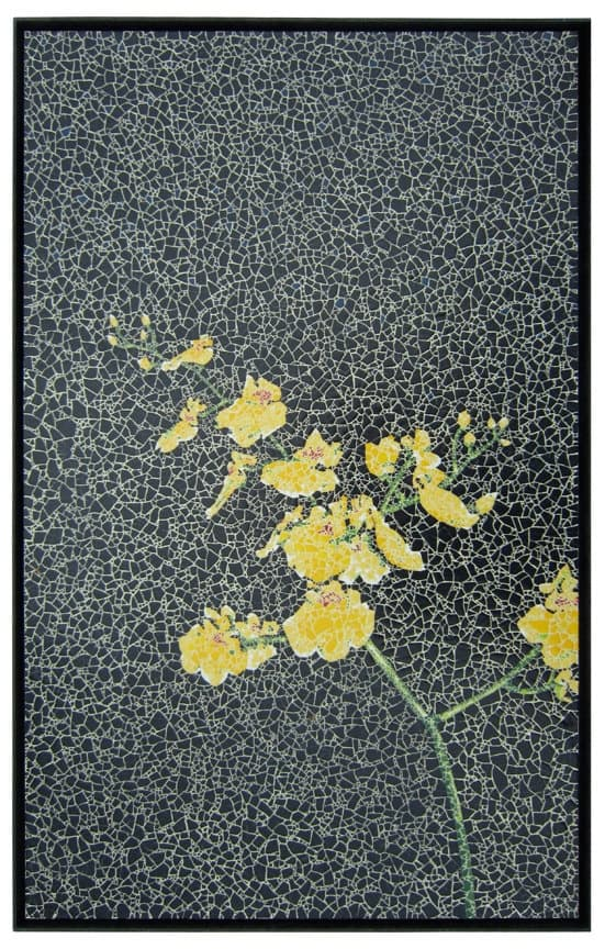 #11 express your love for mural art by creating a picture of yellow flowers in the night
