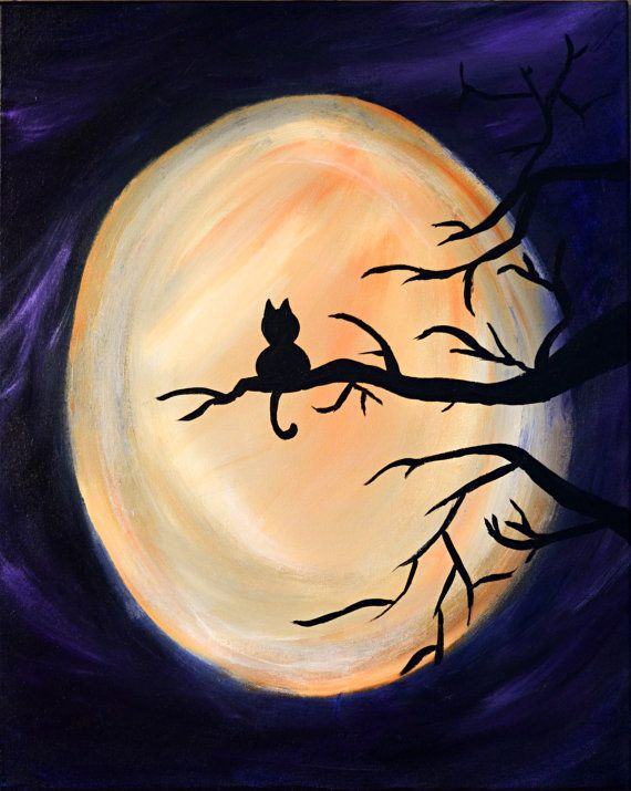 #20 A PAINTING OF A FULL MOON CAN BE REALIZED BY A BEGINNER