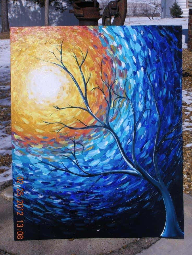 3 ENVISION BEING INSPIRED BY THE ELEMENTS OF NATURE TO CREATE YOUR FIRST PAINTINGS