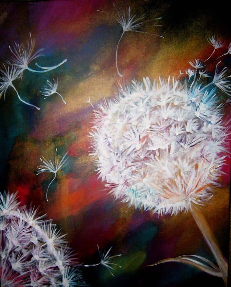 #1 LEARN TO PAINT FLOWERS IN NATURE USING ACRYLIC PAINT
