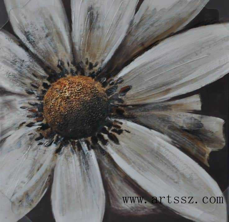 #5 IMAGINE PAINTING A SUNFLOWER USING OIL PAINT