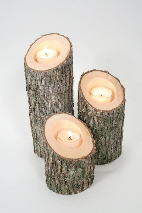 21 23 Stunning Wooden Candle Holders and Candle Holder Centerpiece Detailed Guide homesthetics decor (15)